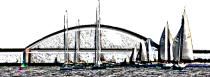 Segelausbildung, SKS Törn, Ostsee, Heiligenhafen, Fehmarnsund-Brücke