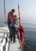 Sicherheitstraining Retten von Personen Mensch über Bord